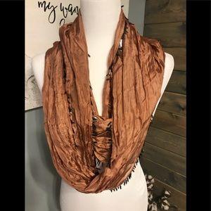 Silk/gauze infinity scarf